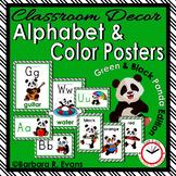 CLASSROOM DECOR: Alphabet, Color Posters, Green & Black, P