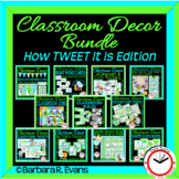 CLASSROOM DECOR BUNDLE: Blue & Green Scheme, How TWEET It