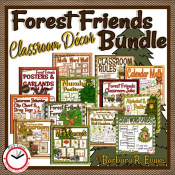 CLASSROOM DECOR BUNDLE Forest Friends' Theme