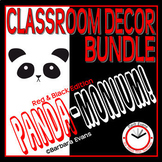CLASSROOM DECOR BUNDLE: PANDA-monium, Panda Theme, Red & Black