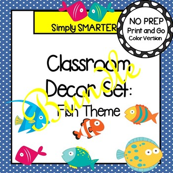 CLASSROOM DECOR SET:  FISH THEME