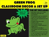 Classroom Set Up and Decor Green frog theme