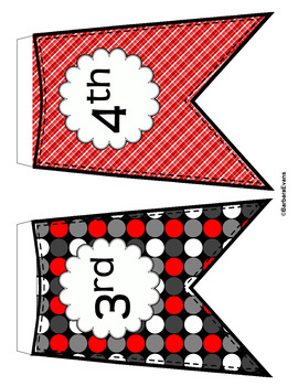 CLASSROOM DECOR: Welcome Banner, Word Wall, Red & Black, Panda Decor