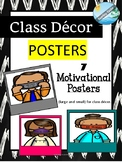 CLASSROOM DECORATION - covid mask posters with MOTIVATIONA