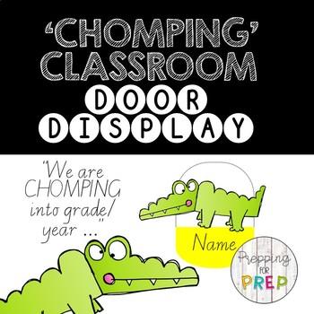CLASSROOM DOOR 'CHOMPING' DISPLAY