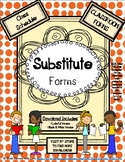 SUBSTITUTE FORMS - Class Schedule Form (classroom form)