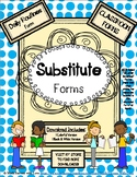 SUBSTITUTE FORMS - Daily Routines (classroom form)