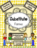 SUBSTITUTE FORMS - Substitute Feedback Form (classroom form)