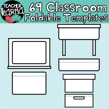 CLASSROOM FURNITURE:  Foldables, Interactives, Flip Book Templates