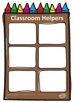 CLASSROOM HELPERS POSTER - JUNIOR