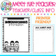 CLASSROOM INFORMATION FOR MEET THE TEACHER EDITABLE