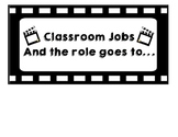 CLASSROOM JOB HEADER AND JOB CARDS-HOLLYWOOD THEME