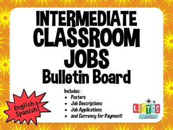 CLASSROOM JOBS Bulletin Board - English & Spanish!