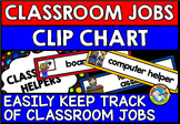 BRIGHT CLASSROOM JOBS WITH PICTURES CHART