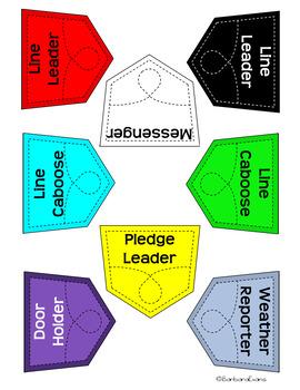 CLASSROOM JOBS: Red & Black Classroom Decor, Pandas, Classroom Management