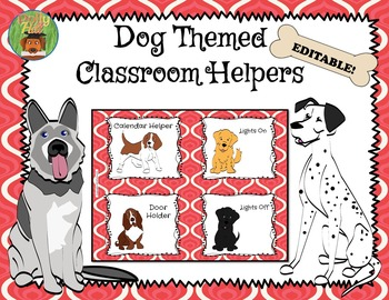 CLASSROOM JOBS- DOG THEMED (red) {EDITABLE!}