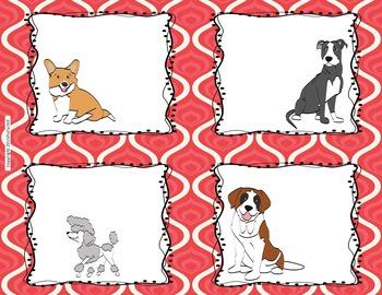 CLASSROOM JOBS- DOG THEMED (red) {EDITABLE!}