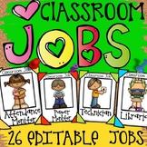 CLASSROOM JOBS: EDITABLE