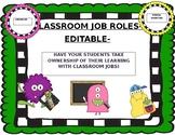 CLASSROOM JOBS - EDITABLE