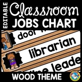 CLASSROOM JOBS EDITABLE WITH PICTURES WOOD AND CHALKBOARD