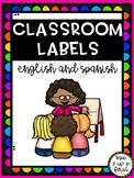 CLASSROOM LABELS-BILINGUAL (ENGLISH & SPANISH)
