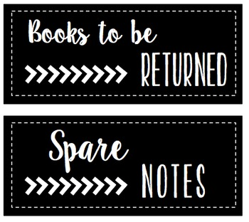 CLASSROOM LABELS / LIBRARY AND SUPPLY
