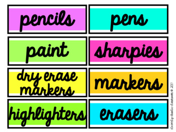 CLASSROOM LABELS! PREMADE AND EDITABLE