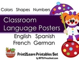 CLASSROOM LANGUAGE POSTERS {English, Spanish, French and German)