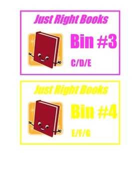 CLASSROOM LIBRARY LABELS- Leveled Just Right Fiction Books