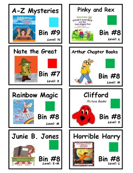 CLASSROOM LIBRARY LABELS- Leveled Series Books