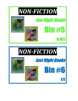 CLASSROOM LIBRARY LABELS- Non-fiction leveled book basket labels