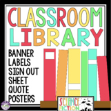 CLASSROOM LIBRARY - NOVEL GENRE LABELS, POSTERS, SIGN OUT SHEET