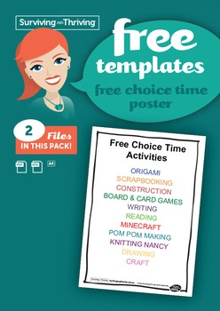 CLASSROOM MANAGEMENT - Free Choice Time Poster