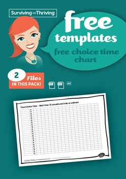 CLASSROOM MANAGEMENT - Free Choice Time Chart