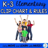 Elementary Behavior Chart and Classroom Management Plan and Editable Posters
