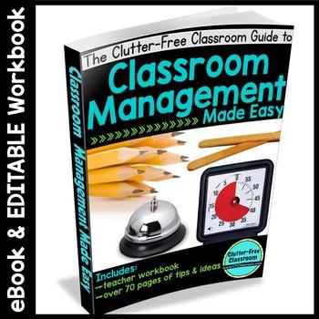 CLASSROOM MANAGEMENT EBOOK: 80 Page eBOOK + EDITABLE Workbook