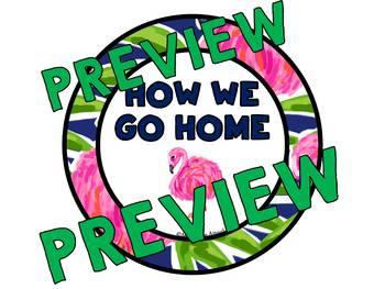 CLASSROOM MANAGEMENT FLAMINGO CLASSROOM THEME DECOR HOW WE GO HOME CLIP CHART