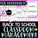 Classroom Management Foldables & Notebook Activities #BTS1
