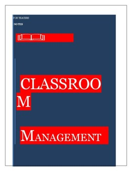 CLASSROOM  MANAGEMENT  II                           ENGLISH& FRENCH