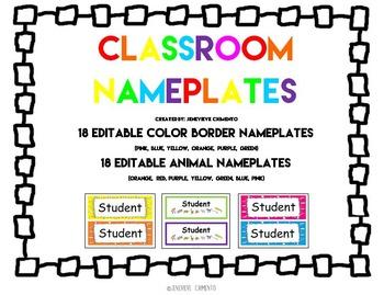 Classroom Nameplates