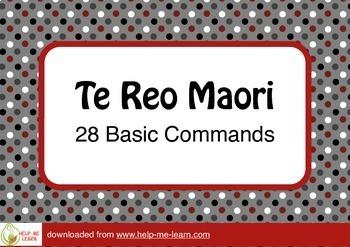 CLASSROOM NZ: TE REO MAORI - 28 BASIC COMMANDS