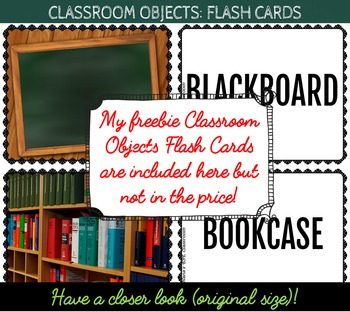 CLASSROOM OBJECTS: 44 FLASH CARDS