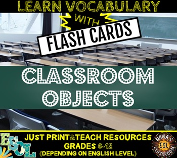 Classroom Objects Photo Flash Cards