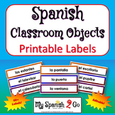 BACK TO SCHOOL:  CLASSROOM OBJECTS:  in Spanish Labels