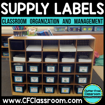 LABELS | Classroom Labels with Pictures | Supply Labels | Classroom Supplies