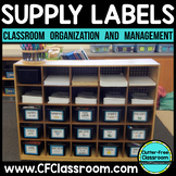 CLASSROOM ORGANIZATION LABELS School Supplies {EDITABLE}