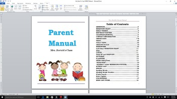 CLASSROOM PARENT MANUAL-for Parents! RULES, policies for classroom- helpful tool