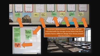 Classroom Decor for Older Students (Green Tone) - Classroom management
