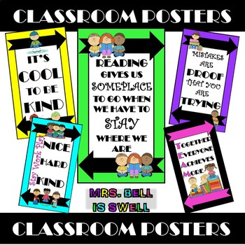 Classroom Posters (Color POP Theme)