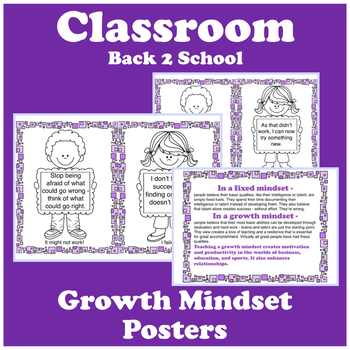 CLASSROOM: POSTERS - GROWTH MINDSET